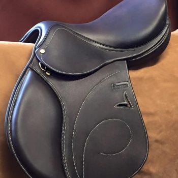 silla de salto doble faldon grabado cerdo o forrada con piel de becerro